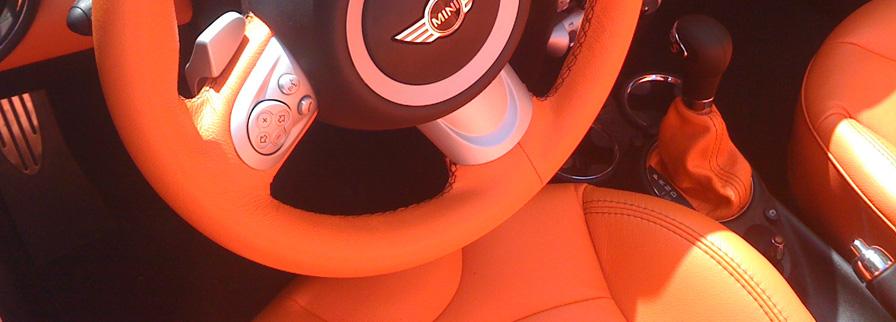 interieur automobile en cuir