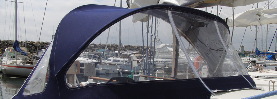 bache de bateau en tissu